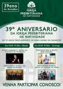 CARTAZ OFICIAL DO 39º ANIVERSARIO DA IPN